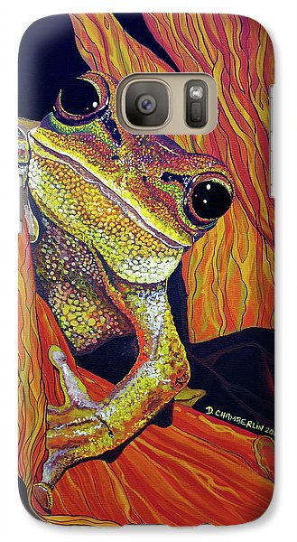 Galaxy Case featuring the painting Peek A Boo by Debbie Chamberlin