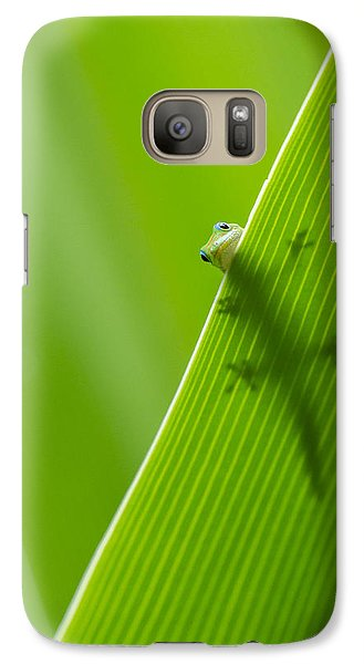 Galaxy Case featuring the photograph Peek A Boo Gecko by Christina Lihani