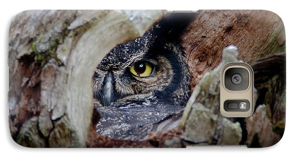 Peek A Boo Owl Galaxy S7 Case