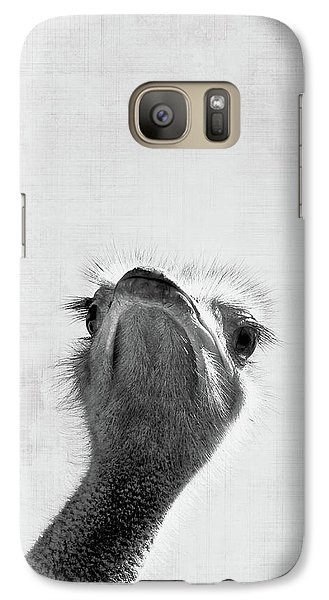 Ostrich Galaxy S7 Case - Peekaboo Ostrich by Delphimages Photo Creations