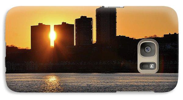 Galaxy Case featuring the photograph Peekaboo Sunset by Sarah McKoy