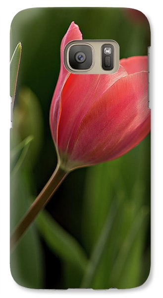 Galaxy Case featuring the photograph Peeking Tulip by Mary Jo Allen