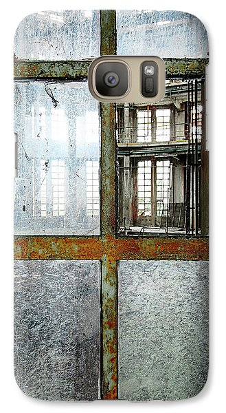 Galaxy Case featuring the photograph Peeping Inside Factory Hall - Urban Decay by Dirk Ercken