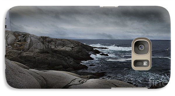 Galaxy Case featuring the photograph Peggys Cove Impending Storm by Nancy Dempsey