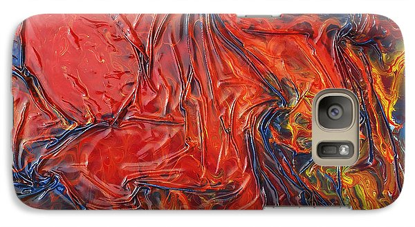 Galaxy Case featuring the mixed media Pele by Angela Stout