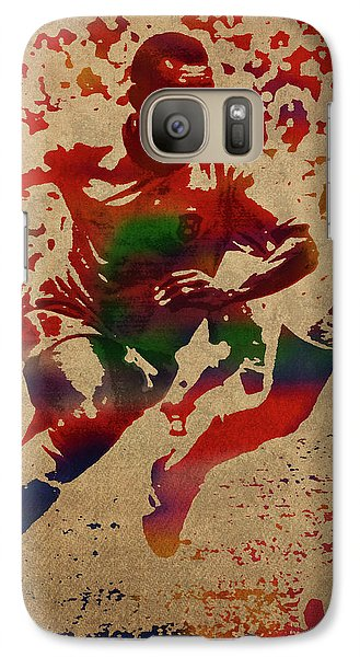 Pele Watercolor Portrait Galaxy S7 Case