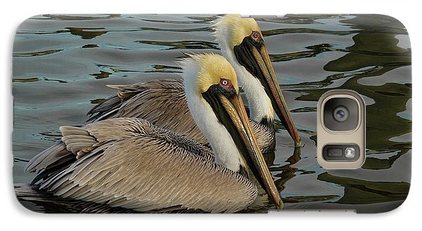 Galaxy Case featuring the photograph Pelican Duo by Jean Noren