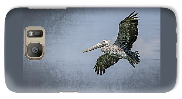 Galaxy Case featuring the photograph Pelican Flight by Carolyn Marshall