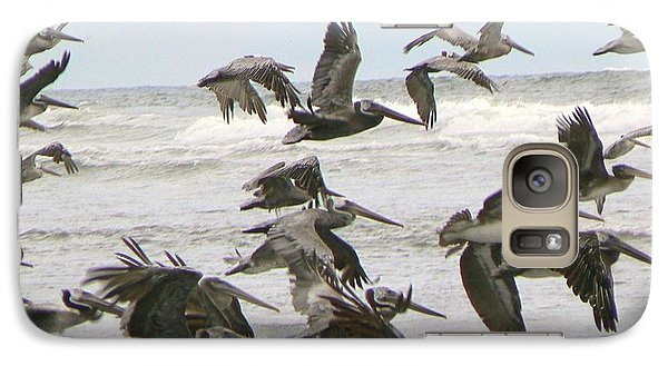 Galaxy Case featuring the photograph Pelican Migration  by Pamela Patch