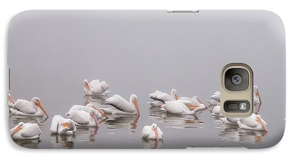 Galaxy Case featuring the photograph Pelicans On The Lake by Carolyn Dalessandro