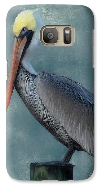 Galaxy Case featuring the photograph Pelican Portrait by Benanne Stiens