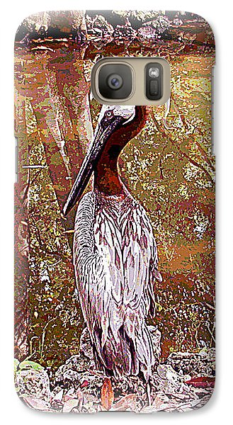 Galaxy Case featuring the photograph Pelican Posed by Martha Ayotte