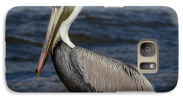 Galaxy Case featuring the photograph Pelican Profile 2 by Jean Noren