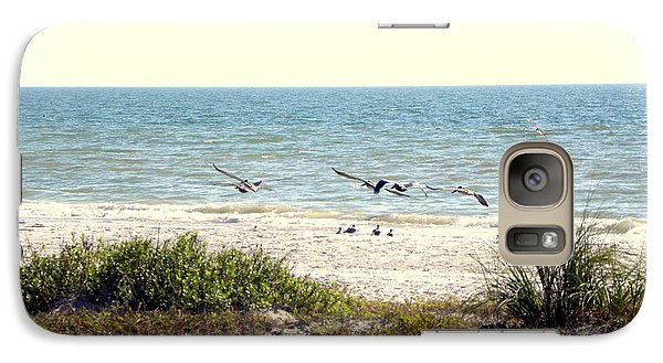 Galaxy Case featuring the photograph Pelican Take-off by Terri Mills
