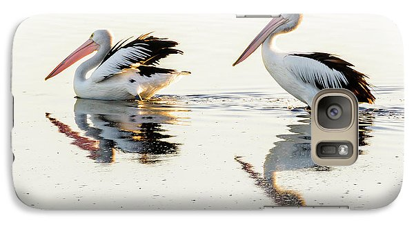 Pelicans At Dusk Galaxy S7 Case by Werner Padarin