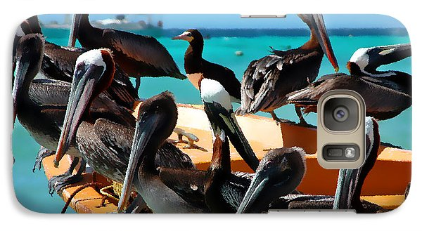 Pelican Galaxy S7 Case - Pelicans On A Boat by Bibi Rojas
