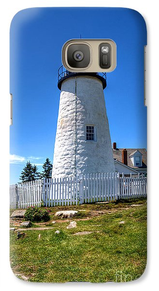 Galaxy Case featuring the photograph Pemaquid Point Lighthouse by Adrian LaRoque