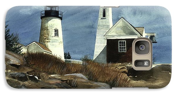 Galaxy Case featuring the painting Pemaquid Point Lighthouse  by Nancy Patterson