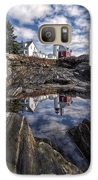 Galaxy Case featuring the photograph Pemaquid Reflected by Jaki Miller