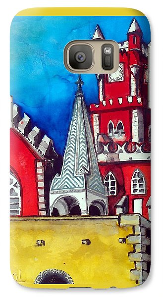 Pena Palace In Portugal Galaxy S7 Case by Dora Hathazi Mendes