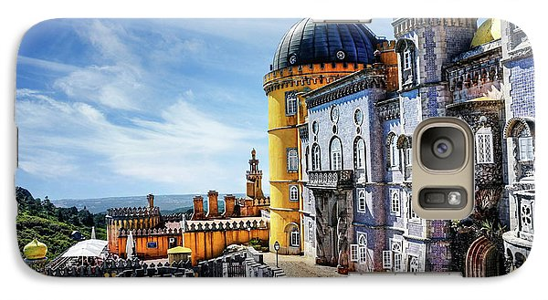 Galaxy Case featuring the photograph Pena Palace In Sintra Portugal  by Carol Japp