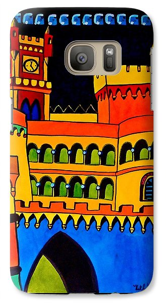 Galaxy Case featuring the painting Pena Palace Portugal by Dora Hathazi Mendes