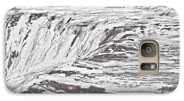 Galaxy Case featuring the drawing Pencil Falls by Desline Vitto