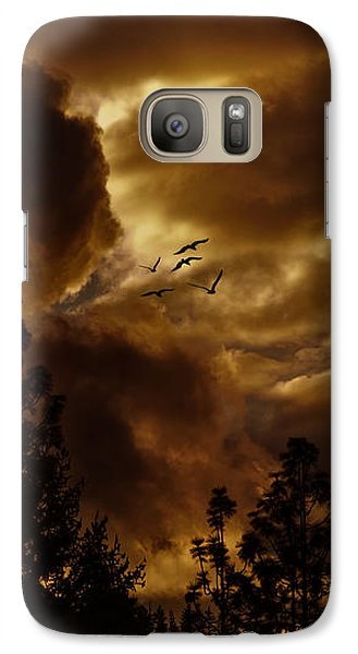 Galaxy Case featuring the photograph Pending Storm by Diane Schuster