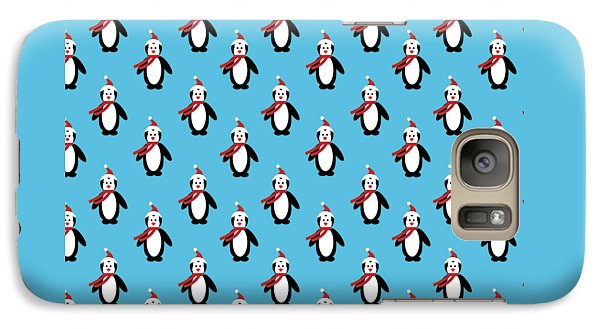 Penguin Pattern With Changeable Background Galaxy S7 Case by Sebastien Coell