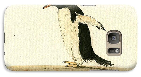 Penguin Galaxy S7 Case - Penguin Walking by Juan  Bosco