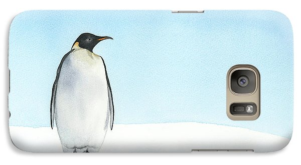 Galaxy Case featuring the painting Penguin Watercolor by Taylan Apukovska
