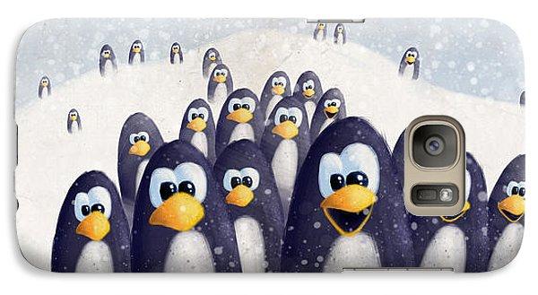 Penguin Winter Galaxy S7 Case by David Breeding