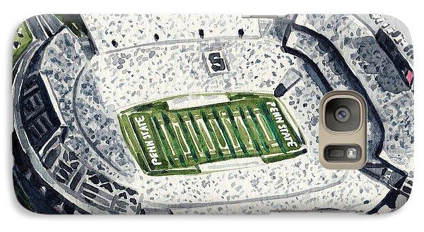 Penn State Beaver Stadium Whiteout Game University Psu Nittany Lions Joe Paterno Galaxy S7 Case by Laura Row