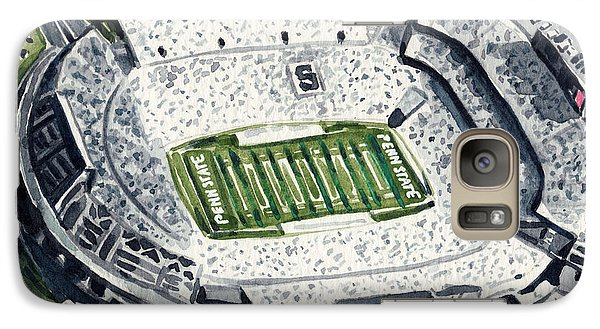 Penn State Beaver Stadium Whiteout Game University Psu Nittany Lions Joe Paterno Galaxy Case by Laura Row