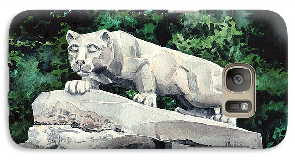 Penn State Nittany Lion Shrine University Happy Valley Joe Paterno Galaxy Case by Laura Row