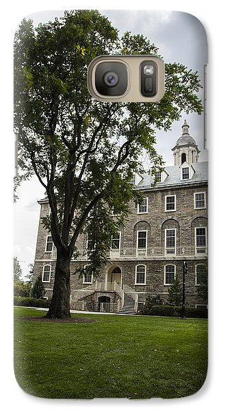 Penn State Old Main From Side  Galaxy Case by John McGraw