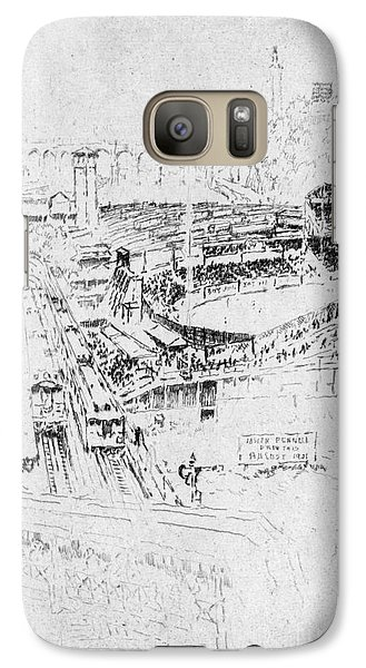 Galaxy Case featuring the drawing Pennell Polo Grounds 1921 by Granger