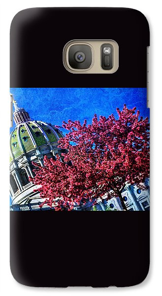 Galaxy Case featuring the photograph Pennsylvania State Capitol Dome In Bloom by Shelley Neff