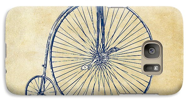 Bicycle Galaxy S7 Case - Penny-farthing 1867 High Wheeler Bicycle Vintage by Nikki Marie Smith