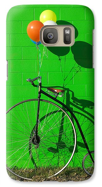 Bicycle Galaxy S7 Case - Penny Farthing Bike by Garry Gay