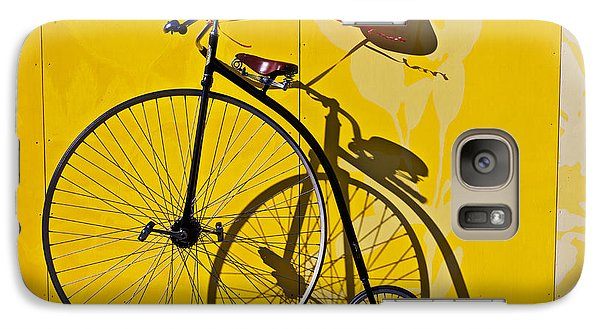 Bicycle Galaxy S7 Case - Penny Farthing Love by Garry Gay