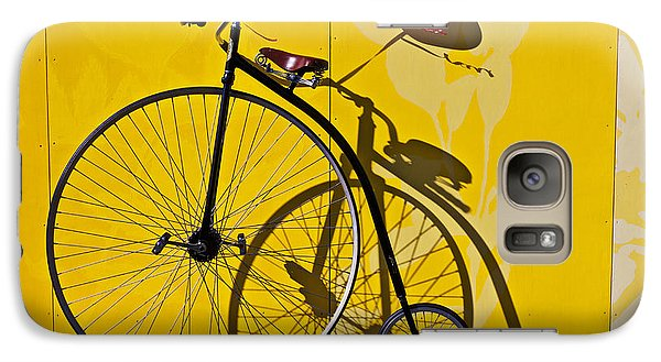 Penny Farthing Love Galaxy Case by Garry Gay