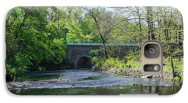 Galaxy Case featuring the photograph Pennypack Creek Bridge Built 1697 by Bill Cannon