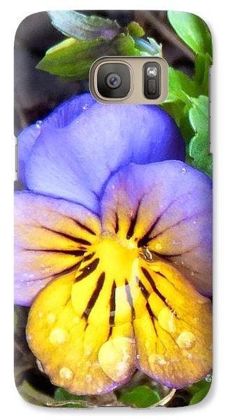 Pensees Bicolores Galaxy S7 Case