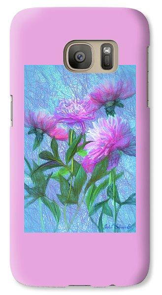Galaxy Case featuring the digital art Peonies #3 by John Selmer Sr