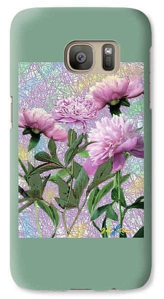 Galaxy Case featuring the digital art Peonies 6 by John Selmer Sr