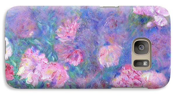 Galaxy S7 Case featuring the painting Peonies by Claire Bull