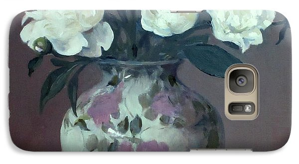One Pink And Four White Peonies,lavender Cloth  Galaxy S7 Case