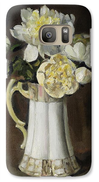 Peonies In Fluted Japanese Coffeepot Galaxy S7 Case