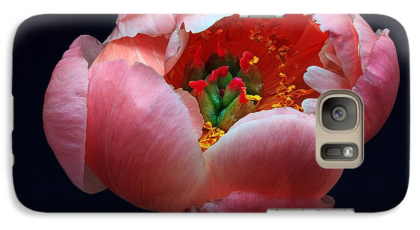 Galaxy Case featuring the photograph Peony Bloom by Robert Pilkington